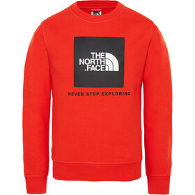 The North Face Box Crew T-shirt Kinderen, fiery red
